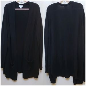 Old Navy Black Open Front Sweater Size XXL TAll